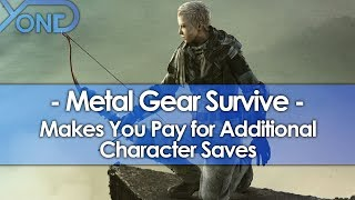 Metal Gear Survive Makes You Pay for Extra Save Slots
