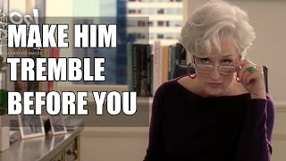 The Key to Commanding Respect & Be Feminine - Make ANY Guy Nervous - Miranda Priestly Breakdown