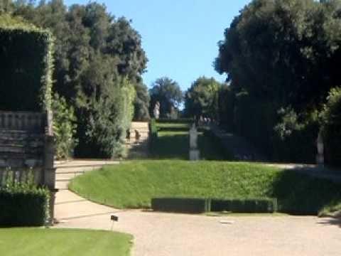 Florencia jardines boboli y palacio pitti youtube for Jardines boboli