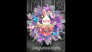Dollar Tree Easter Bunny Wreath