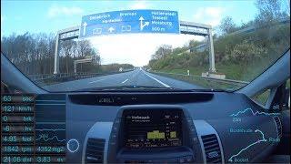 #7 Prius 2 - Teil 1: eine 120 km/h Autobahnfahrt / Part 1: Autobahn with 120 km/h