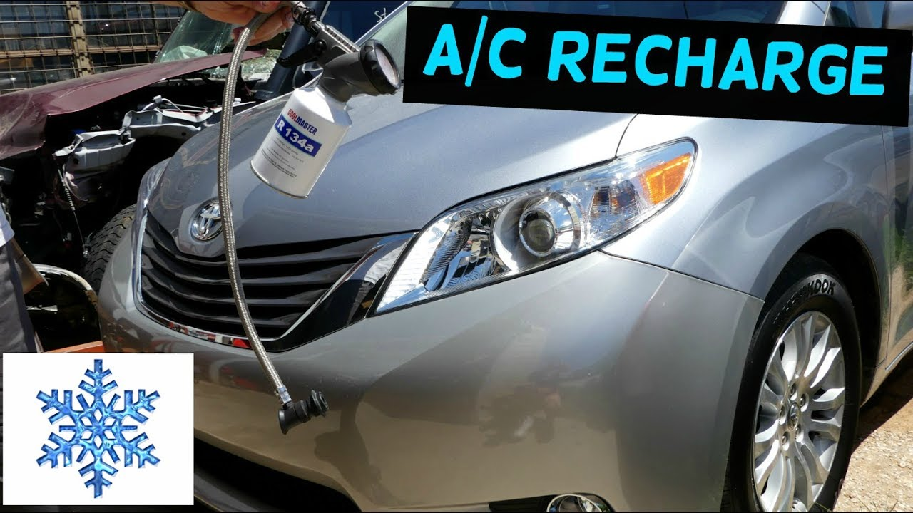 How To Recharge The Air Conditioner System Ac On Toyota