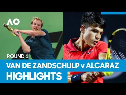 Botic Van de Zandschulp vs Carlos Alcaraz Match Highlights (1R)   Australian Open 2021