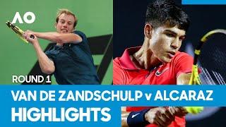 Botic Van de Zandschulp vs Carlos Alcaraz Match Highlights (1R)