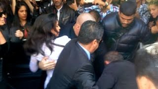 TOTALLY CRAZY- Kim Kardashian screaming as she gets ATTACKED by Vitalii Sediuk in Paris