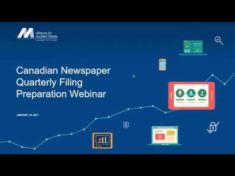 [Webinar] Tips for Filing Data via the Canadian Quarterly Newspaper Tool