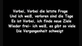 Panik - Vorbei (Lyrics)