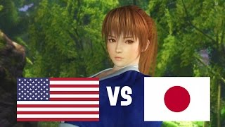 DOA5LR English Vs Japanese Voice Comparison (Part 1) (Kasumi, Brad Wong, Mila)