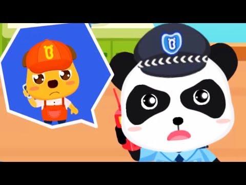 Baby Panda's Brave Jobs - Kid Learn About Policeman, Fireman, Astronaut Job - Babybus Games For Kids