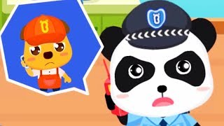 Baby Panda's Brave Jobs - Kid Learn About Policeman, Fireman, Astronaut Job - Babybus Games For Kids
