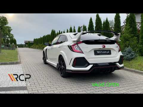 Honda Civic Type R FK8 | RCP Exhausts | Cat-Back Exhaust + Valve