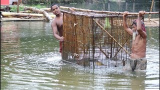 Big Fish Trapping House Making & Catching Big Carp Fish From Beautiful Canal