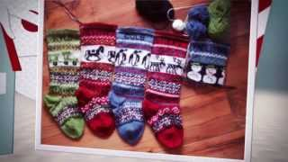 Christmas Stockings Set Of 5 Holiday Stockings Knitted