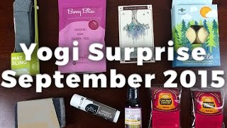 Yogi Surprise September 2015 Unboxing + Coupon - Yoga Subscription Box Review
