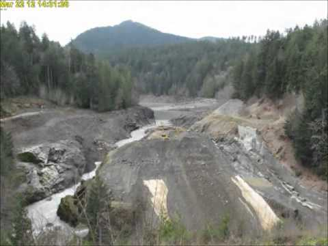 Time Lapse of the removal of Elwha Dam, Washington State
