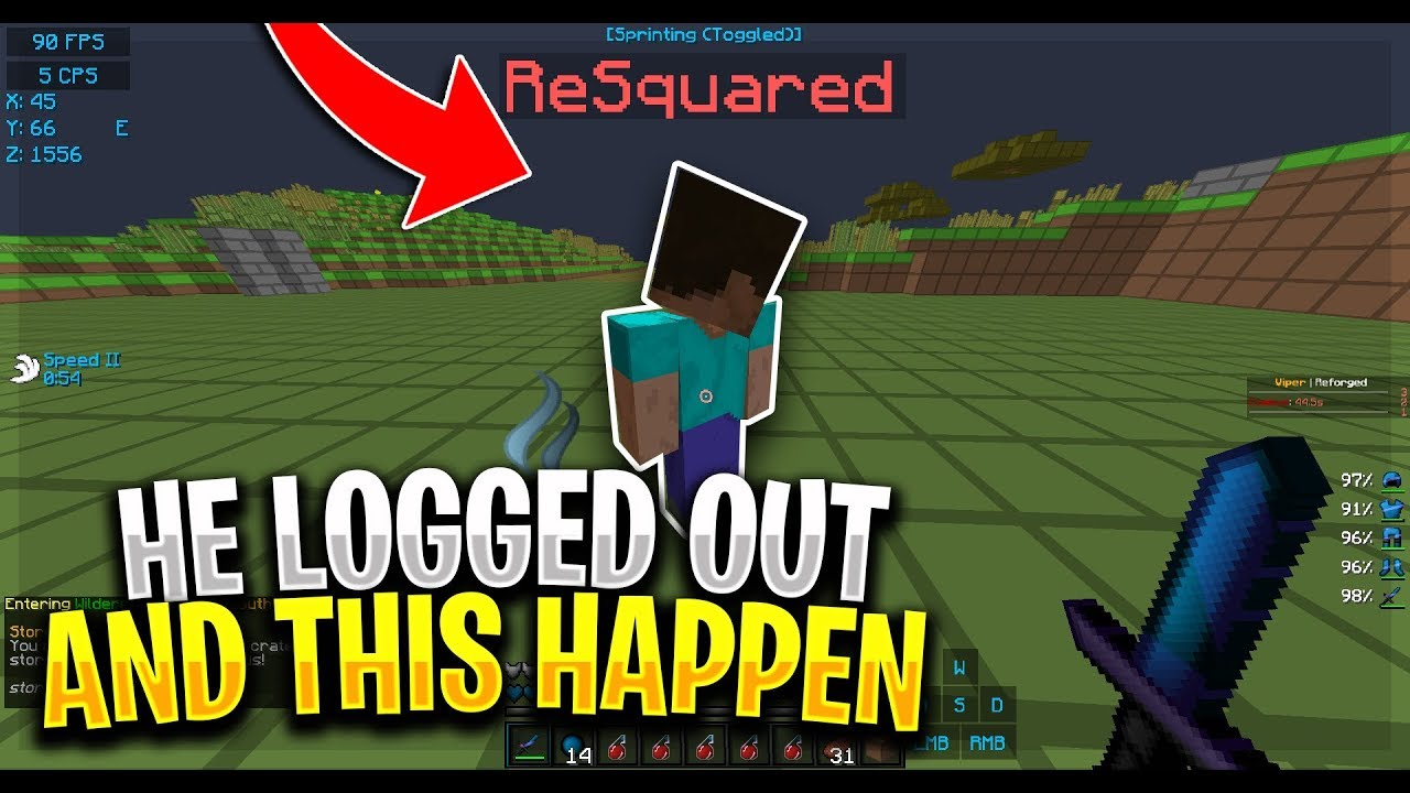 HE LOGGED OFF AND THIS HAPPEN   ! - HOW TO HCF (2) | Minecraft HCF