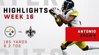 Antonio Brown's Big Game w/ 185 Yards & 2 TDs vs. Saints