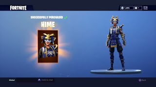 I TRADED MY PANDA FOR THE NEW HIME SKIN!! ACHAT ET VITRINE Fortnite Bataille Royale