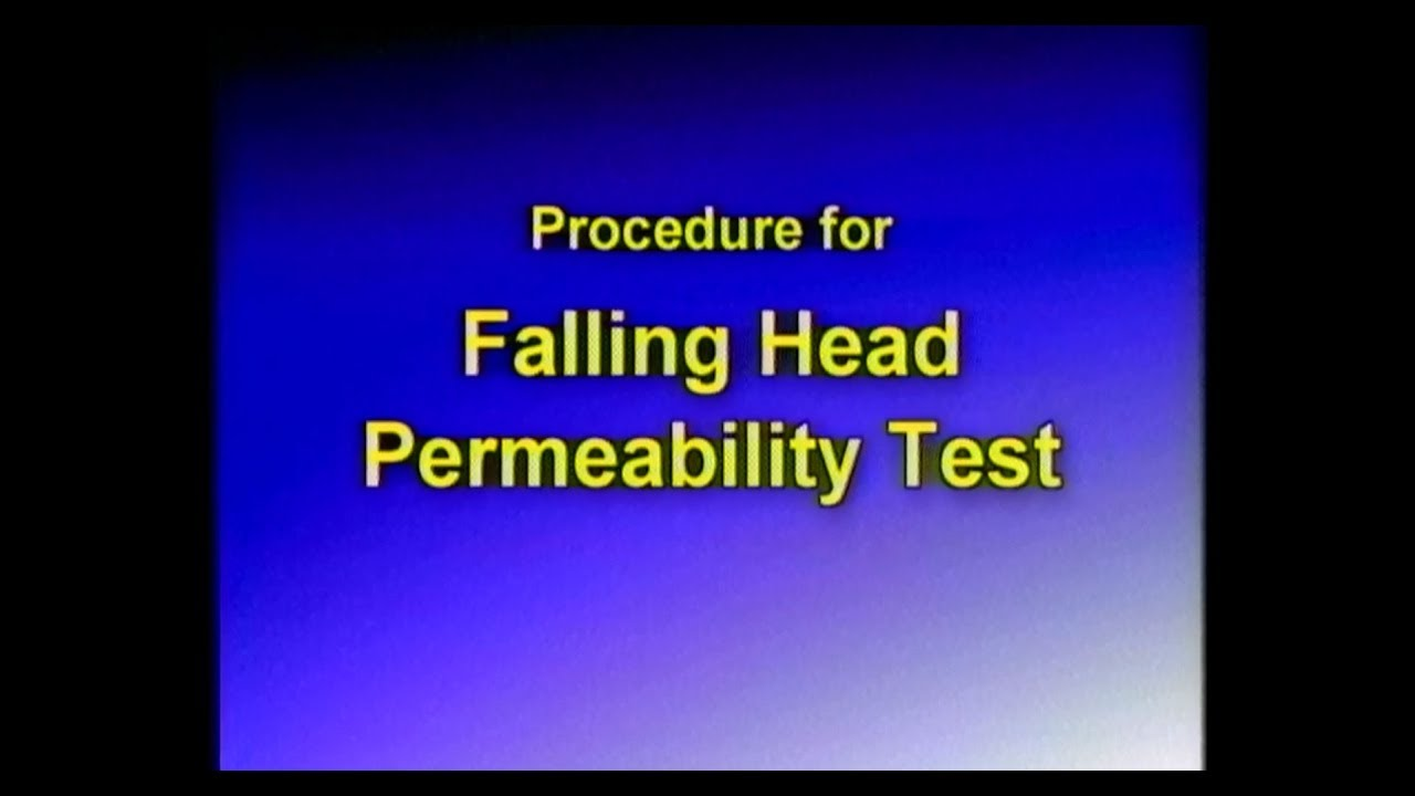 constant head and falling head permeability test lab report