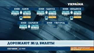 С 30 мая в Украине дорожают жд-билеты(, 2018-05-22T17:01:54.000Z)