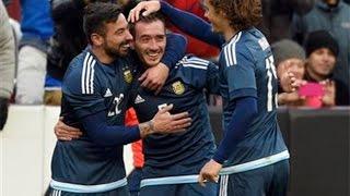 Primer gol de Mancuello en la selección argentina