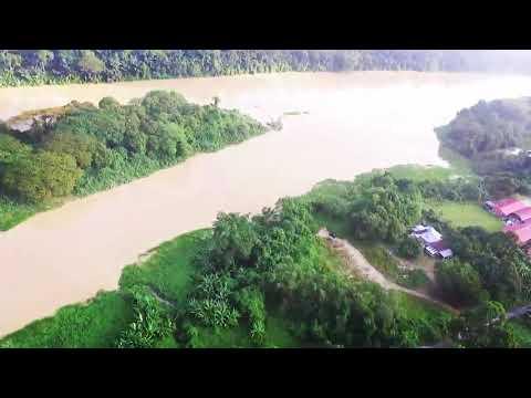 Sungai perak R&R plus highway malaysia aerial view