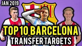 Transfer news! top 10 barcelona targets january 2019 ft icardi, de jong, ligt