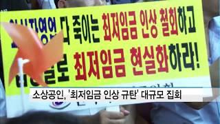 '최저임금 개선 촉구'…소상공인 광화문 집결한다 / 머…