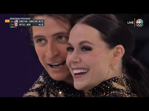 Virtue/Moir 2018 Olympics SD 'Latin Rock Medley' (NBC)