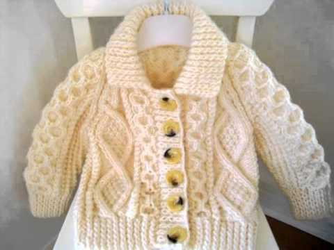 Handknit Cardigan For Baby Youtube