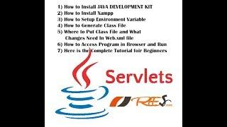 Running Java Servlet Program part 5 - Class file copy and editing web.xml