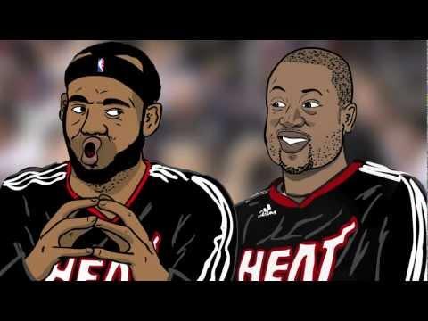 Basketball Friends - LeBron James and Dwyane Wade