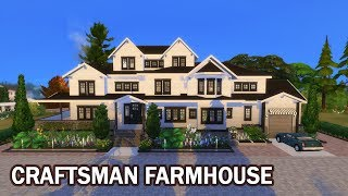 The Sims 4 | House Building (Stop Motion) | Craftsmans Farmhouse