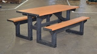 Polly Tuff Step Through Picnic Table