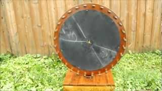 Homemade Wooden Game Wheel.