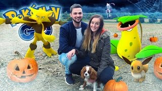 Pokemon GO (Ali + Clare) - NEW POKEMON, HALLOWEEN SHOPPING + BROKEN PHONE!