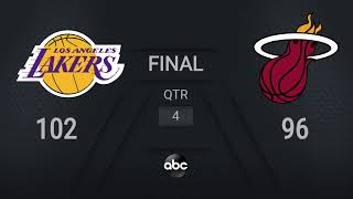 Lakers @ Heat Game 4 | NBA on ABC Live Scoreboard | #NBAFinals Presented by YouTube TV