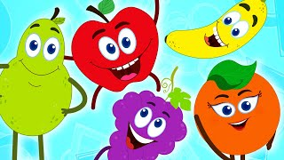 Repeat youtube video Fruits Finger Family | Learn Fruits | Nursery Rhymes | Baby Songs by HooplaKidz