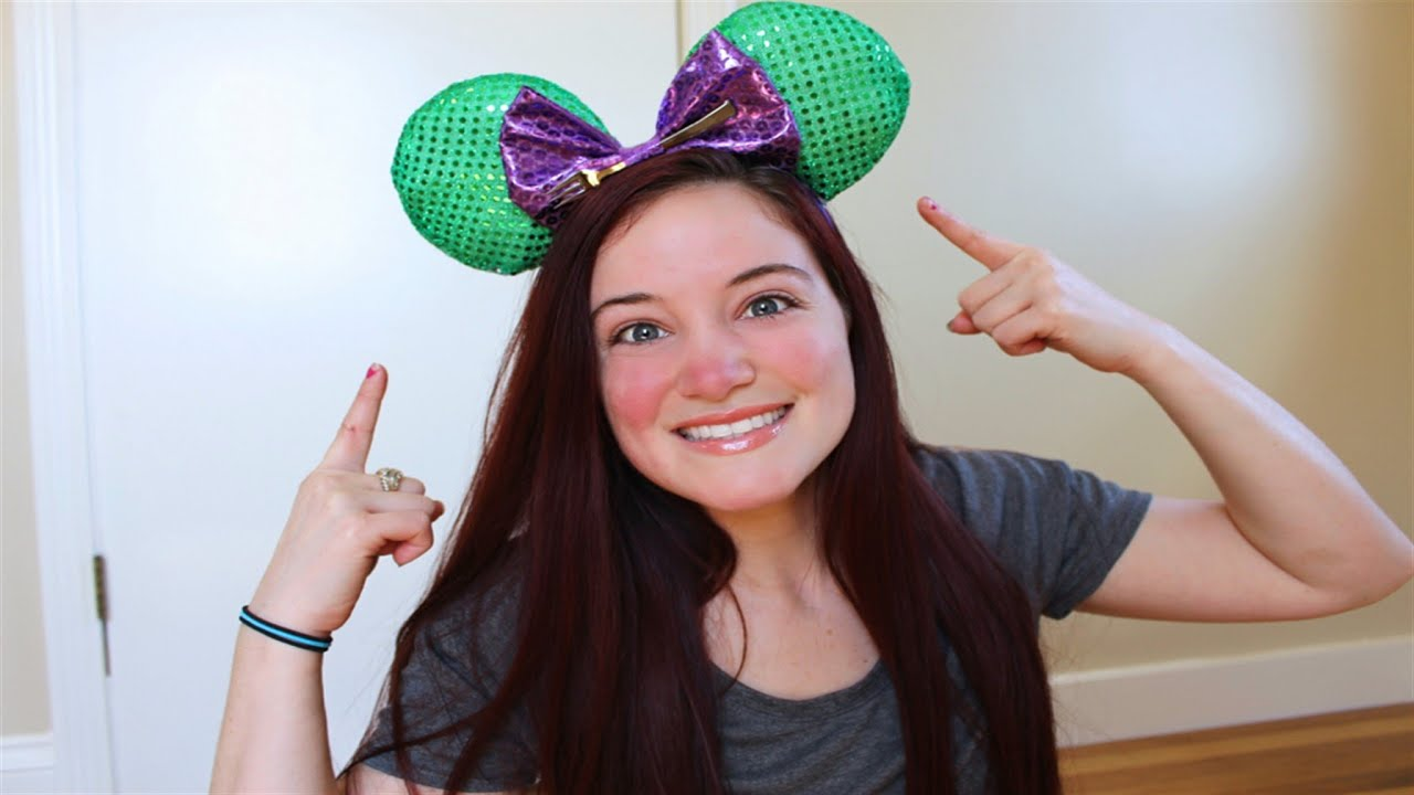 Diy disney mickey mouse ears tutorial youtube solutioingenieria Choice Image