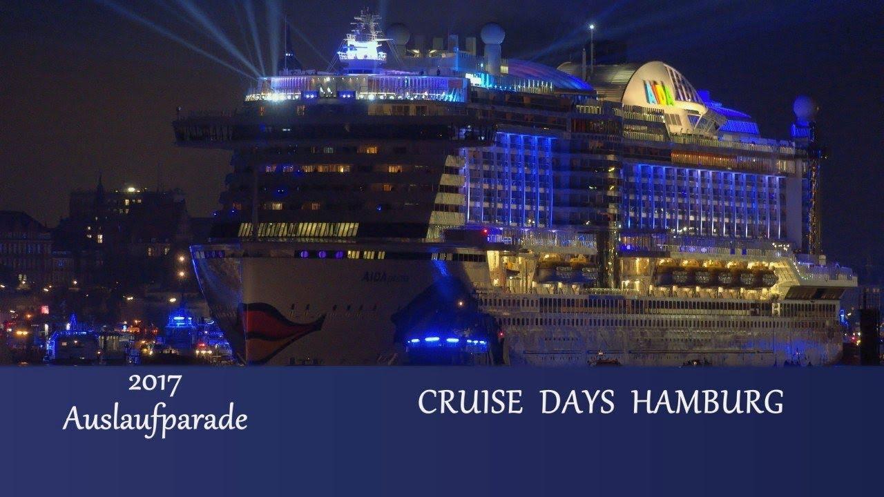 Cruise Days Hamburg 2017 Auslaufparadefeuerwerk 4k Youtube