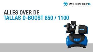 Tallas D-BOOST 850 / 1100 Hydrofoorpomp