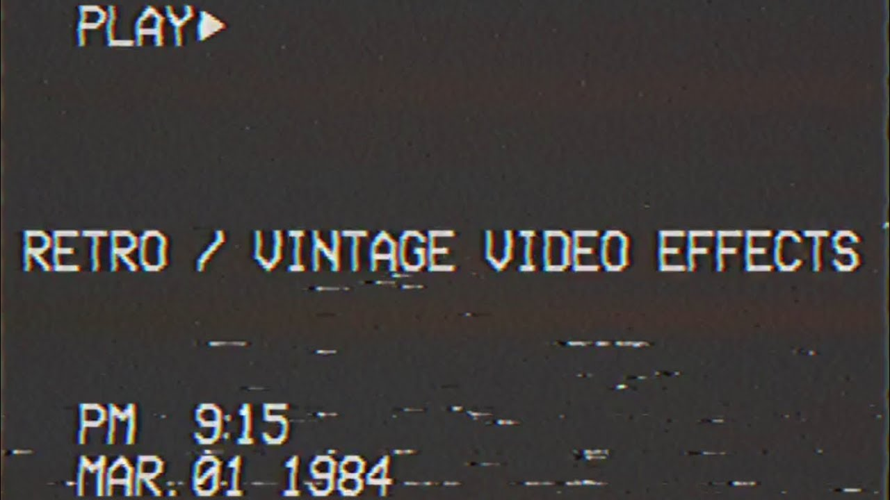 RETRO / VINTAGE VIDEO EDITING APPS (2019)