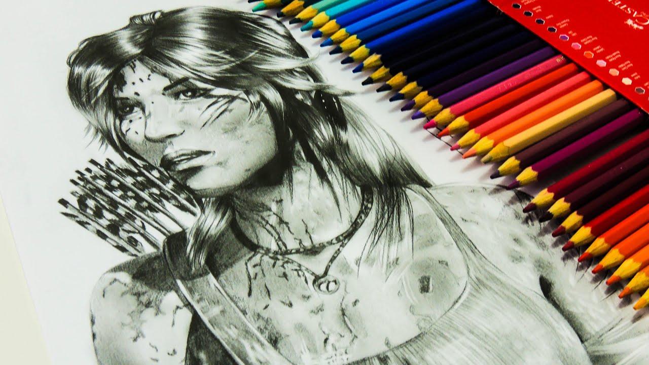 35ab408da1 Desenho Gamer - Desenhando a Lara Croft - Rise of the Tomb Raider ...