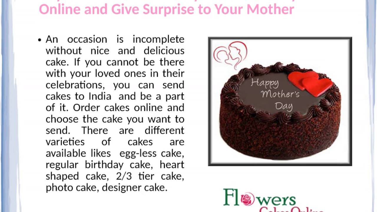 Buy Mothers Day Cake Online And Buy Mothers Day Flowers Online