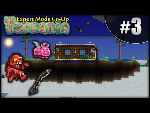 Terraria Expert Mode Co-Op (1.3): Episode 3 - Floating Island!