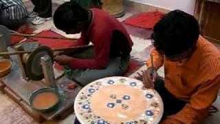 Marble Inlay Center - Agra, India