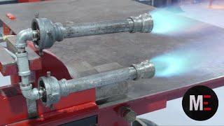 Como Hacer un Quemador Atmosférico Doble Para Fragua a Gas.