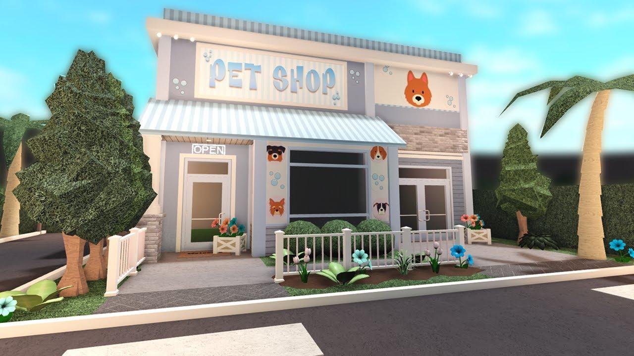 Building A Pet Shop In Bloxburg Youtube