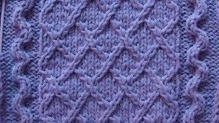 Рельефный узор Ромбики к джемперу London Town Вязание спицами Видеоурок 167