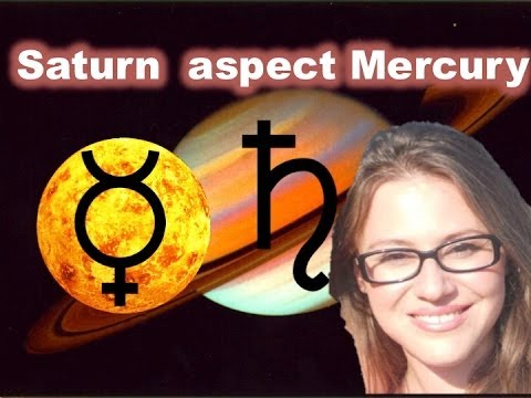 Saturn aspect Mercury in the Horoscope